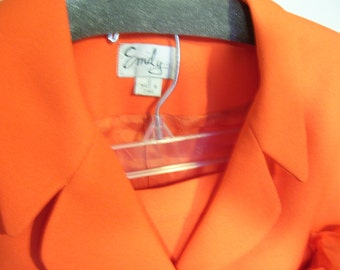Dressy Women's Suit Size 12 By Emily Tangerine Shade Church Wedding Mother Of Bride