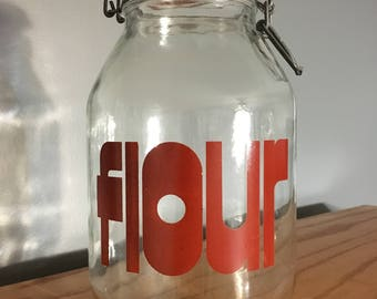 Triomphe Glass Flour Canister