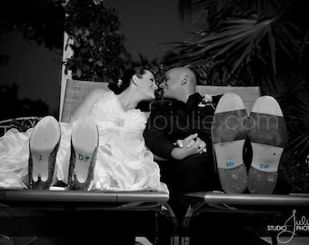 Wedding I Do Shoe Crystals with DIAMOND RING & Me Too Groom Stickers for the Bride and Groom.  Perfect Photo Opp for your Bridal Shoes