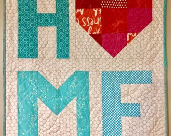 Quilted Home Heart Wall Hanging/ Table Topper