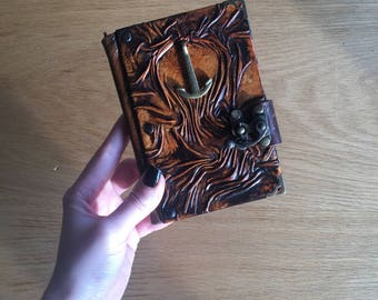 Leather Journal, Steampunk Journal, Leather Notebook, Leather Sketchbook, Unique Gift