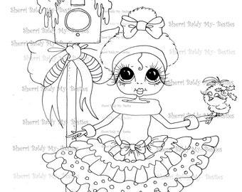 INSTANT DOWNLOAD Digi Stamps Big Eye Big Head Dolls Digi Bestie IMG950 By Sherri Baldy