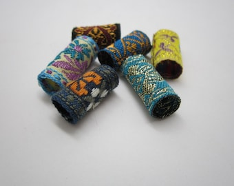 6PCS fabric Dreadlock beads dread tube  hair braid Jewelry Making Accessories about 8-10mm hole