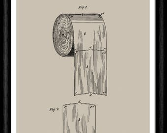 Toilet roll patent etsy antique 1800s toilet paper roll patent art print toilet roll blueprint art bathroom decor bathroom wall art gift for him or her malvernweather Images