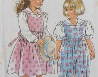 Girls Jumpsuit Pattern / Simplicity 7417 / Girls Jumper Pattern / Jumper Pattern / Jumpsuit Pattern