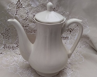 Vintage tea pot, white ironstone, classic tea pot, Mother's Day gift, china tea pot, Afternoon Tea, classic 6 cup tea pot