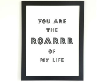 ROARRR Art Print Illustration < A3 > Nursery decor, Kids Art Print, Kids Room decor, Baby, Wall Art, Poster, Boys Room Decor