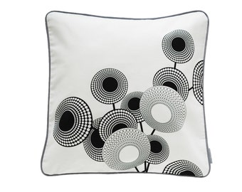 Pillow cover Hope, white/black, 50 x 50 cm (without filling)
