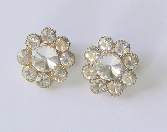 CLIP rhinestone earrings