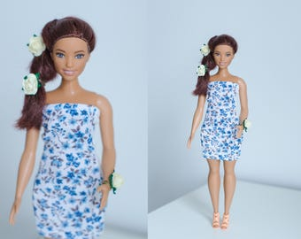Curvy Barbie dress / Barbie clothes/ dress for curvy Barbie/  handmade curvy Barbie clothes / curvy Barbie clothes
