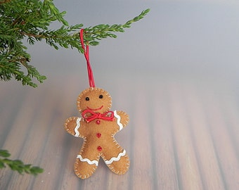 Gingerbread Man Felt Gingerbread Man Tree Decoration Holiday Decor Christmas Decoration Cute Gingerbread Man Christmas Tree Decor Holiday