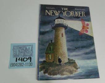 June 23,1973 New Yorker Magazine featuring Charles Addams Cover