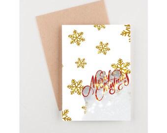 Merry Christmas digital print card- digital print-merry Christmas