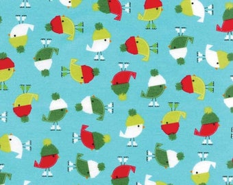 Jingle Flannel Christmas Fabric by Robert Kaufman BTY #895