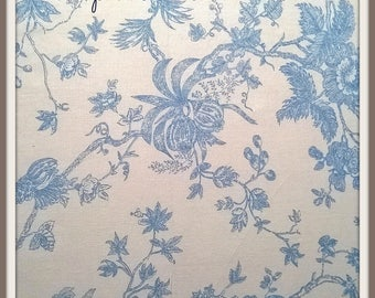 Fabrics Mas D'Anna Ousvn blue tea by the yard
