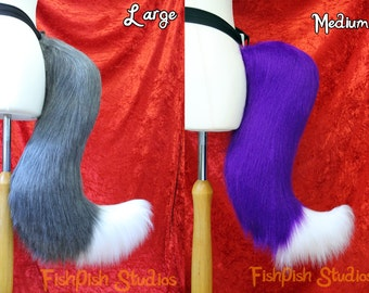 Fox Cosplay Tail  - 2 Colours - for furries, costumes, LARP, cosplay and dress up - fursuit accessory