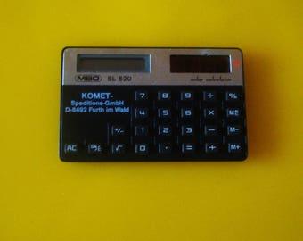 Vintage NOT Working Solar Calculator KOMET  MBO Sl 520, German Solar Calculator, Solar Calculator ,Made in Germany, Calculator