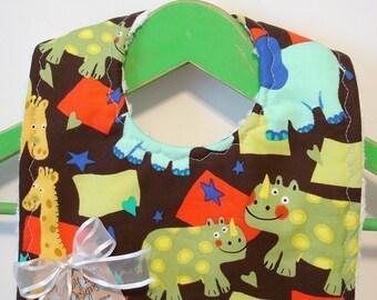 Animal Crackers - Minky Baby Bib