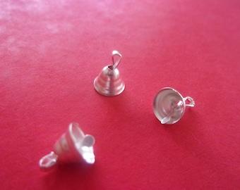 Shape charm Bell in silver - 8 mm