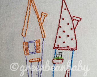 Four Houses Digital Embroidery Patterns
