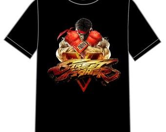 street fighter 2 v 5 t-shirt shirt tee video games 80s 90s movies cartoons ken ryu bison chun-li vega super capcom marvel vs mortal kombat
