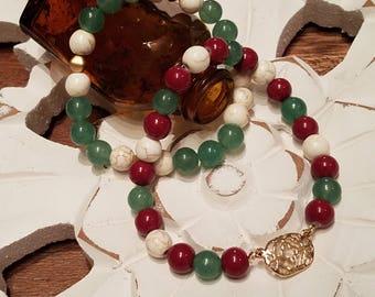 Beaded Bracelet Set~ Gold & Earth tones