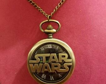A lg star wars pocket watch necklace