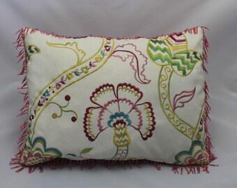 Feminine floral accent pillow