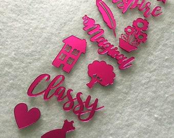 Pink Mirror Stickers