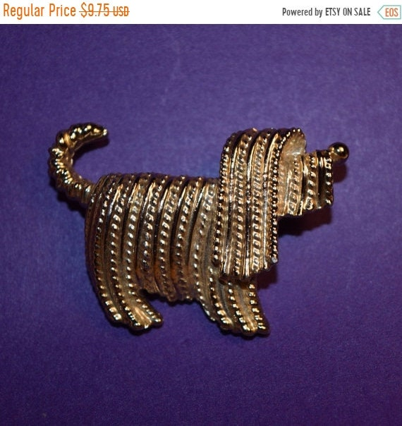 Delayed Shipping Sarah Coventry Jewelry Shaggy Dog Brooch Vintage Sarah Coventry Gold Tone Schnauzer Brooch/Pin Textured Dog Lapel Pin Dog C