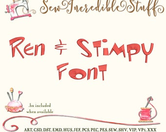 Ren & Stimpy Machine Embrodery font
