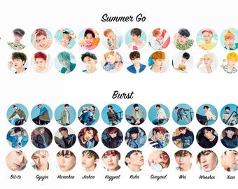 Up10tion Pinback Button from their releases so far