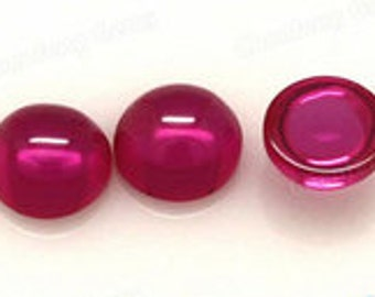 AAA Rated Find Round Shape Cabochon Lab Created Ruby Sizes 3mm-15mm