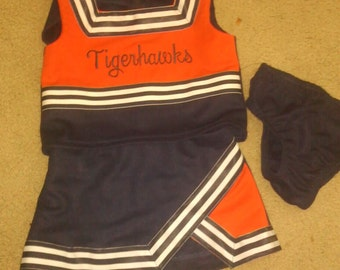 Custom made child's cheerleading uniform