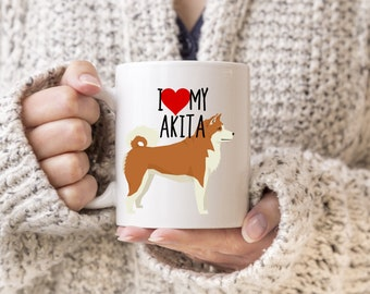 Akita Mug, I Love My Akita Mug, I love my dog, dog lover mug