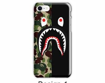 Bape Shark Iphone Case iPhone 8 iPhone 7/7 plus case Shark Bape Case Camouflage A Bathing Ape Camo, iPhone 6/6s case iPhone 6/6s plus