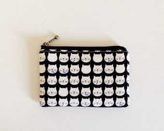 Mini zipper pouch  -cat black