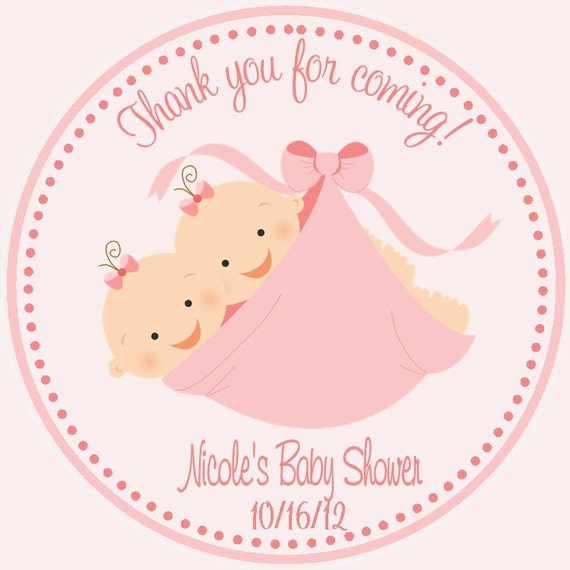 Twin Baby Shower Favor Tags ( Set Of 12 )   Twin Shower Favors   Baby Shower  Favors For Twins / Twin Girls Baby Shower / Twin Boys Baby From ...