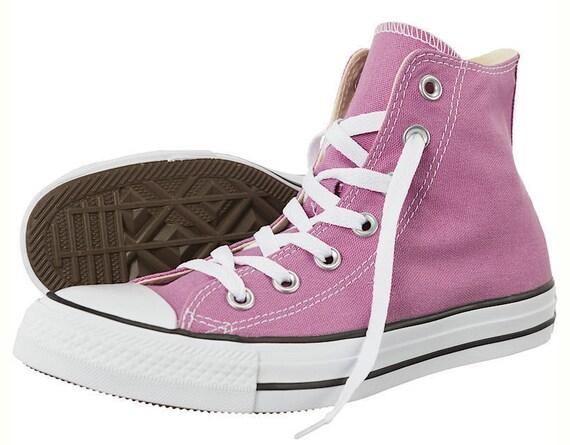 Purple Converse High Top Powder Orchid w/ Swarovski Crystal Bling Lavender Lilac Wedding Chuck Taylor Bride Kick All Star Bling Sneaker Shoe