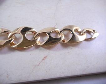 Vintage Large Gold LInk Bracelet