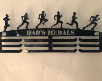 Dad's Medals male runner medal holder Father's Day gift