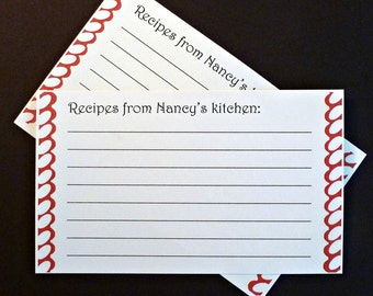 50 recipe cards free US shipping 3x5 cards from the kitchen of white personalized recipe cards with borders wedding gifts bridal shower gift