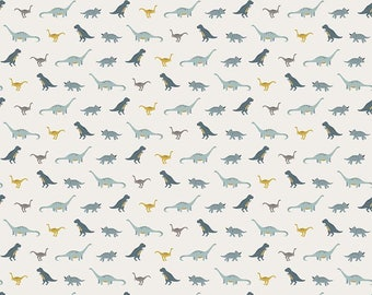 Fossil Rim - Tiny Dino Cream by Deena Rutter for Riley Blake Designs, 1/2 yard, C6614-Cream
