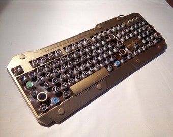 Steampunk keyboard, Industrial style