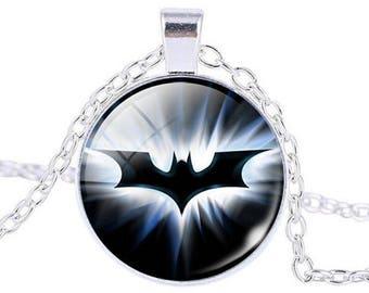Batman Superhero Cabochon Necklace