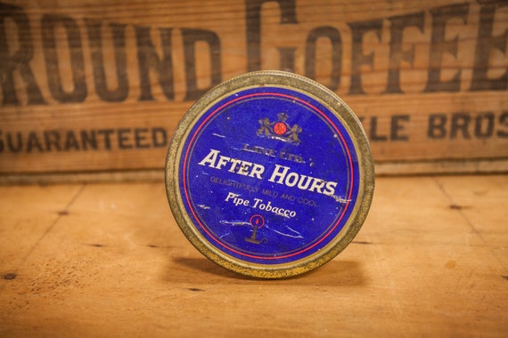 Man Cave Hours : Vintage after hours pipe tobacco tin lane utd. germany royal