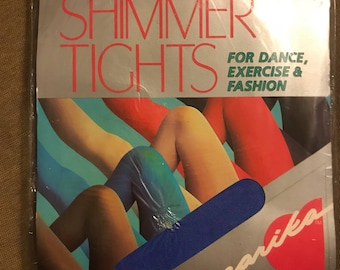 1980's Footless Marika Shimmer Tights new, never used