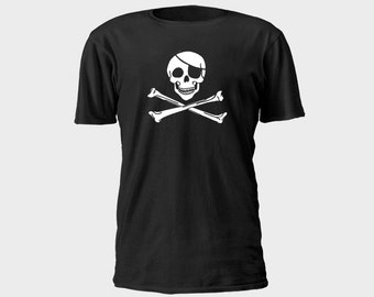 Mens Pirate T-Shirt - Classic Jolly Roger