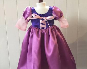 "Rapunzel inspired dress for an 18""  American Girl Doll"