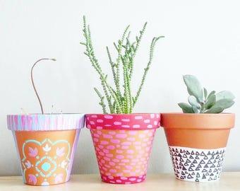 Succulents & Planters- Dorm Decor- Gift for her~ Bohemian Furniture~ Indoor Gardening~ Wedding favors- decorative centerpieces- Rustic Decor